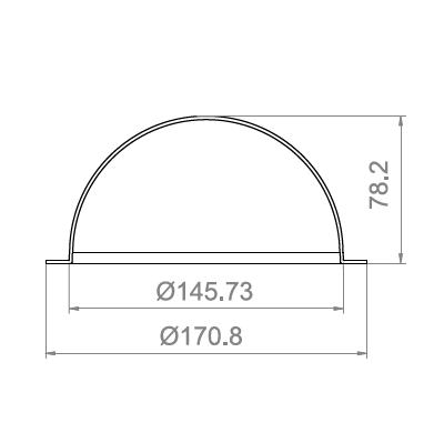 5.7寸防暴球罩