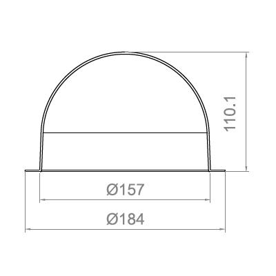 6.2寸防暴球罩